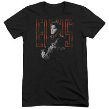 Elvis Presley Red Guitarman Mens Tri-Blend Short Sleeve Shirt