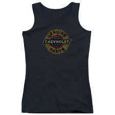 Chevy Genuine Chevy Parts Distressed Sign Juniors Tank Top Shirt