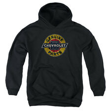 Chevy Genuine Chevy Parts Distressed Sign Youth Pullover Hoodie