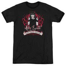 Ncis Goth Crime Fighter Mens Adult Heather Ringer Shirt