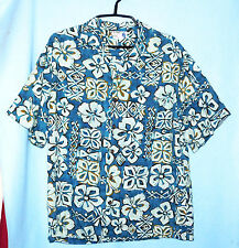 IOLANI VINTAGE MADE IN HAWAII PRINT SHIRT 100% RAYON MEN'S MEDIUM