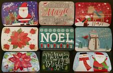 CHRISTMAS HOLIDAY COOKIE TINS Hinged Lids Nesting Gift Boxes SELECT: Size/Design