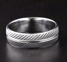 Solid 925 Sterling Silver Wedding Band Ring 7mm Wide