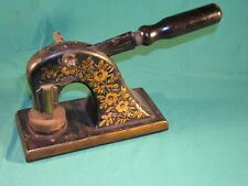 Victorian Cast Iron Letter Press Desk Stamp Iron Founding Workers Association