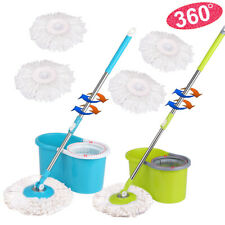 Stainless Steel 360° Spin Mop & Bucket Set Foot Pedal Rotating Magic Floor Mop