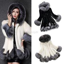 Fashion Women Hooded Faux Fur Parka Winter Warm Coat Jacket Outwear Overcoat Hot