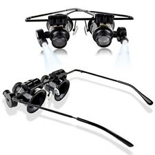 Magnifier Magnifying 20X Eye Glasses Loupe Lens Jeweler Watch Repair LED Light