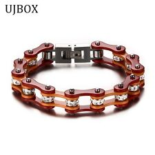 Jewelry Men Jewelry Stainless Steel Fashion Mix Color Biker Chain Bracelet For M