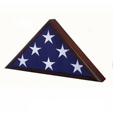 Veteran Dark Cherry Flag Case Hand Made By Veterans