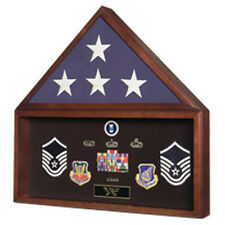 Burial Flag Medal Display case,Ceremonial Flag display Hand Made