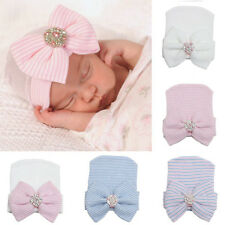 Cute Newborn Baby Infant Girl Toddler Comfy Bowknot Hospital Cap Beanie Hat New