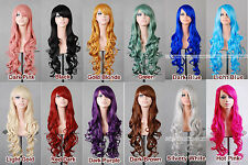 """32"""" 80cm Long Hair Heat Resistant Spiral Curly 12 color Cosplay  Anime Wig"""