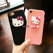For iPhone 7 7Plus 6S Plus Cartoon Cute Cat Hello Kitty 3D Hard Shell Case Cover