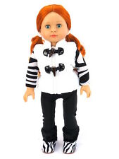 """Zebra quilted vest pant set 18"""" doll clothes fits American Girl AG"""