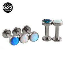 Titanium Fire Opal Stone Monroe Lip Tragus Ring Labret Stud Body Jewelry 14G 8mm