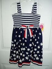 YOUNGLAND Stars & Stripes Forever Patriotic  Dress Girls 5T or 6T July 4th