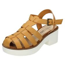 Ladies Spot On Platform Heel Gladiator Sandal F10169
