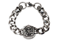 """Sons of Anarchy Motorcycle Club Grim Reaper Cast Stainless Steel Bracelet 8.75"""""""