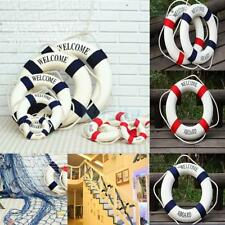 Welcome Aboard Nautical Wall Hanging Ship Boat Ring Life Buoy Cafe Decor 14-50cm