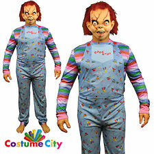 Adults Mens Official Childs Play Chucky Good Guys Halloween Fancy Dress Costume