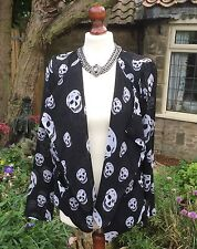 GOTHIC SKULL SEMI SHEER TOP/JACKET/BLOUSE BNWT LARGE. WHITBY/STEAMPUNK