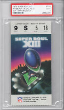 PSA 2 -- RARE Super Bowl XIII (13) Ticket GOOD -- Bradshaw Steelers Cowboys 1980