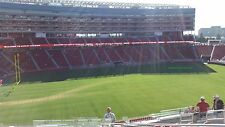 12/11 San Francisco 49ERS New York JETS ( 5 tix!) Section 221 AISLE next to Club