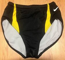 Nike Womens Running/Cycling Briefs Black and Yellow Iowa Hawkeyes