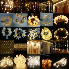 All Warm White Christmas Wedding Xmas Party Deco Outdoor Fairy String Light Lamp