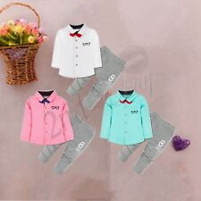 3PC Toddler Boys Clothes Outfit T-shirt Kids Baby Boy Wedding Formal Suit Sets