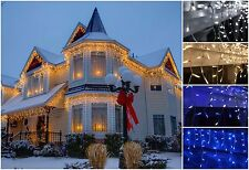 480 LED Icicle Snowing Lights  Xmas Christmas Decoration House Indoor Outdoor