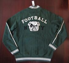 Ralph Lauren Polo Bulldog Baseball Football Fleece Varsity Jacket L NWT