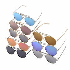 Round Stylist Color Film Reflective Fashionable Unisex Sunglasses For Driving F5