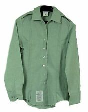 SHIRT WOMANS WOMENS TUCK-IN US ARMY DRESS GREEN LONG SLEEVE CLASS A B UNIFORM
