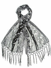 Amaryllis Shawl, Vintage Inspired Sequin Evening Wrap, Embroidered Sequin Shawl,