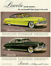 1950 Lincoln Cosmopolitan Capri and Lido - Promotional Advertising Poster