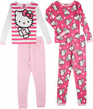 Hello Kitty Big Girls 4-pc. Polka Dot Pajama Set