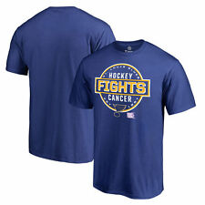 St. Louis Blues Hockey Fights Cancer Conquer T-Shirt - Royal - NHL