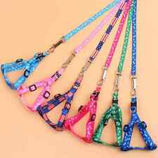 Brand New Small Dog Pet Puppy Traction Rope Adjustable Nylon Harness Lead Leash