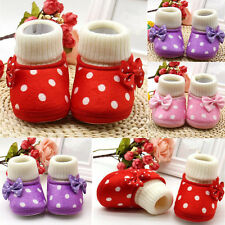 1 Pair New Hot Girl Infant Baby Soft Sole Boots Cute Toddler Shoes Newborn Warm