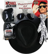 Michael Jackson Wig Gloves Hat Glasses Adult Mens Dress Up Costume Accessory Kit