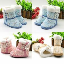 Comfort Baby Girl Boy Winter Boots Toddler Infant Soft Sole Shoes 6-12Month Crib