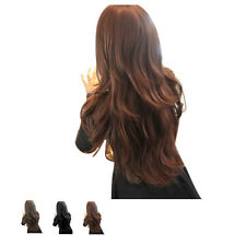 Fashion Cosplay Long Wigs Curly Hair Style Fluffy Slanting Bangs Wig For Women