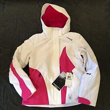 Spyder Women's Prevail Jacket White Hot Pink Size 10 or 14 - NEW w/ Tags