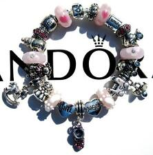 Authentic PANDORA 925 Sterling Silver Bracelet BABY GIRL Murano Beads AA77