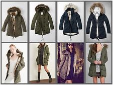 NWT Abercrombie & Fitch By Hollister SHERPA-LINED MILITARY PARKA XS-L
