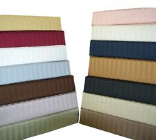 300 Thread Count 100% Cotton Sheets, Damask Stripe Twin-Size Luxury Sheet Sets