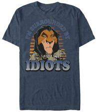 Disney: The Lion King- Surrounded By Idiots T-Shirt Blue Shirt Tee New
