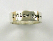 """925 Sterling Silver Ring, """"follow your heart"""" Far Fetched, Retired Design"""