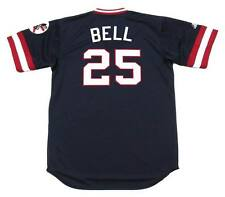 BUDDY BELL Cleveland Indians 1977 Majestic Cooperstown Throwback Baseball Jersey